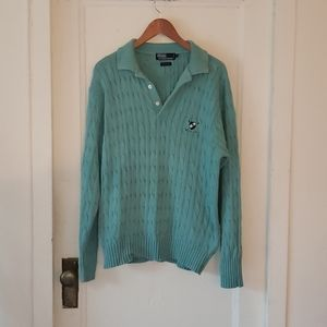 Polo By Ralph Lauren Mens Teal Sweater
